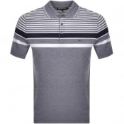 Product Image for Michael Kors Birdseye Stripe Polo T Shirt Navy